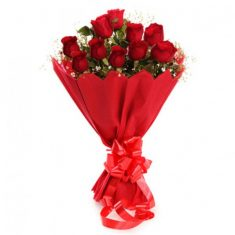 Elegant Red Roses Bouquet – Roses – Flowers By Types – Flowers