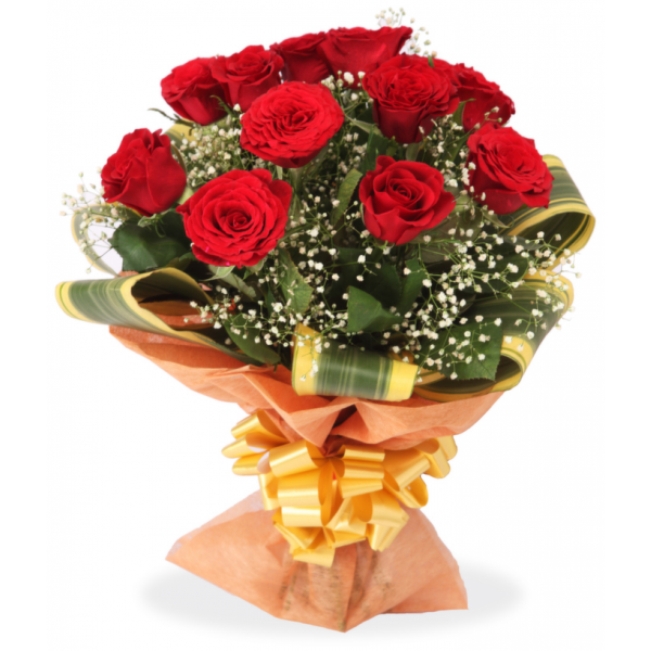 Lovely Red Roses Bouquet – Roses – Flowers By Types – Flowers