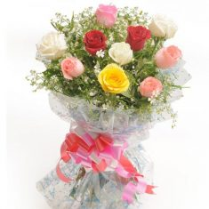 25 Mix Roses Bouquet – Roses – Flowers By Types – Flowers