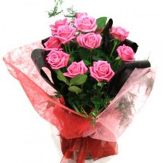 Pink Blossom Beautiful Bouquet – Roses – Flowers By Types – Flowers