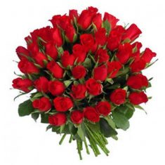 Romantic Red Roses Bouquet – Roses – Flowers By Types – Flowers