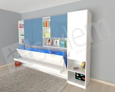3D визуализация на идеен проект за хоризонтално падащо легло