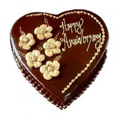Chocolate Heart Shape Anniversary Cake – Chocolate – By Flavour – Cakes