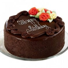Rose Design Chocolate Birthday Cake – Chocolate – By Flavour – Cakes