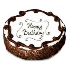 Simple Round Birthday Cake – Chocolate – By Flavour – Cakes