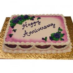 Square Shape Anniversary Cake – Chocolate – By Flavour – Cakes