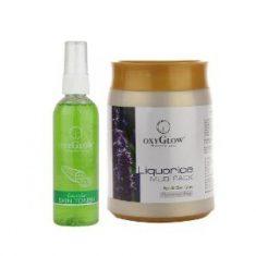 OxyGlow Cucumber Skin Toner 100 ml & Liquorice Mud Pack 500 g Combo