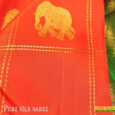 Pure Kanchipuram silk sarees from ARRS Silks and feel the richness of its traditional and intric ...