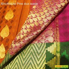 Multi colour pure silk sarees