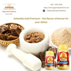 Flavorful and strong Asafoetida is now available with Gopuram Products to add zing to tour cooki ...