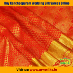 Find a gorgeous Kancheepuram Wedding Silk Sarees at ARRS Silks for your upcoming party or weddin ...