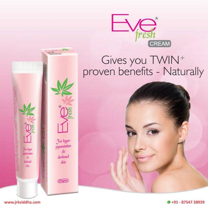 Our Eve fresh cream for Hyperpigmentation has Distinctive ingredients like Aloe vera and Curcuma ...
