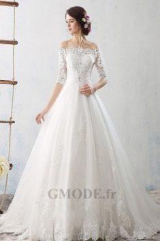 Robes de mariée manche longue avec dentelle pas cher