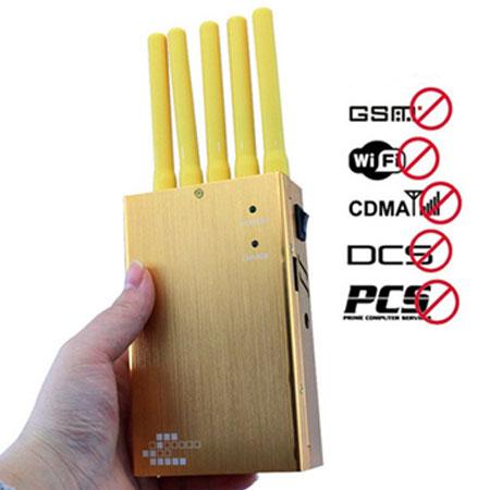 Ce brouilleur de téléphone portable recouvert d'or peut bloquer plusieurs bandes de signal ...
