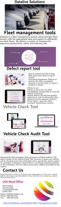 Fleet management tools like software and GPS tracking implementation allows you to track fleet d ...