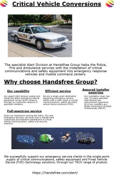 The specialist Alert Division at Handsfree Group helps the Police, Fire and Ambulance services w ...