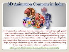 3D SERVICES INDIA is a 3D Animation Company provides 3D Character Animation, 3D Animation Art an ...
