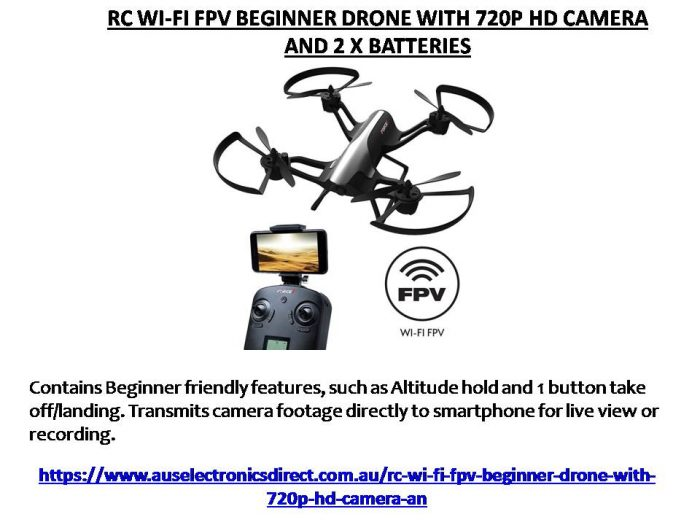 The Rogue F72 FPV Drone includes a 720p HD Wifi Camera that allows you to view and record footag ...