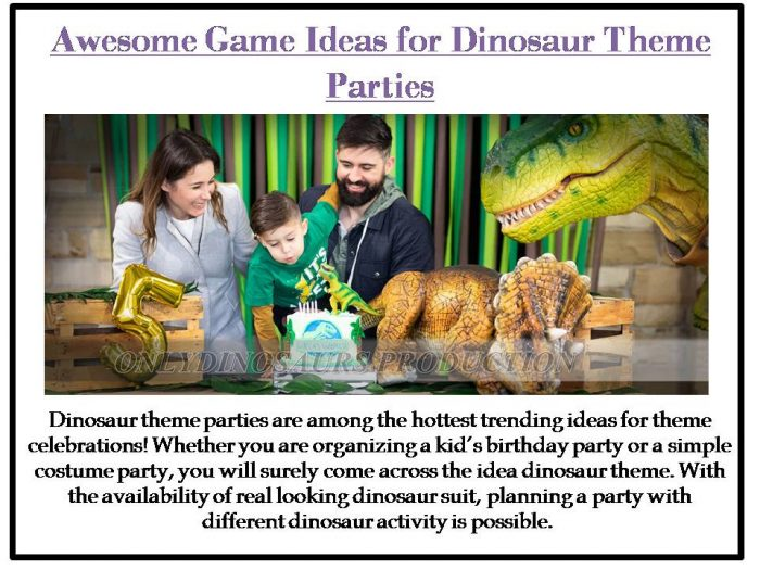 Dinosaur theme parties are among the hottest trending ideas for theme celebrations! Whether you  ...