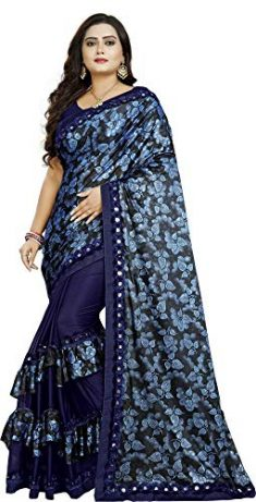 D.C. Women's Banglori Malai Saree with Blouse Piece