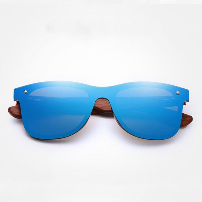 Natural Bamboon Sunglasses Square For Men/Woman – Blue – EyeWearShop