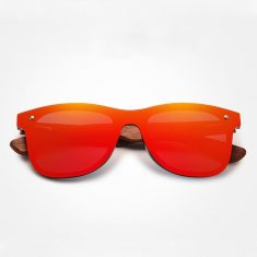 Natural Wooden Sunglasses Square Bamboo Frame For Men/Woman – Red – EyeWearShop