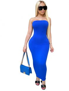 2020 New Sheath Strapless Silk Satin Plus Size Dress [VIVIDRESS50001] – R1440 : vividress. ...