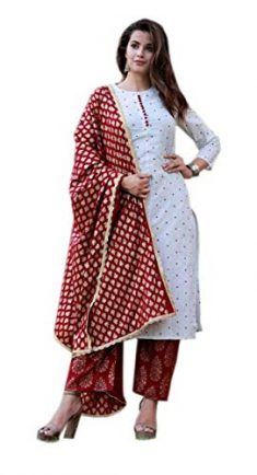 Bagda Fashion Women's Cotton & Rayon Salwar Suit