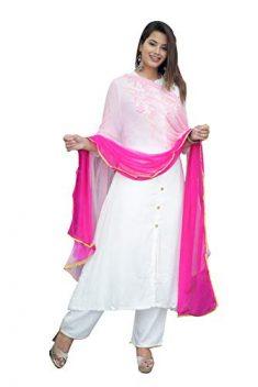 Bae's Wardrobe Women's Rayon Readymade Salwar Suit