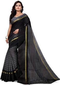 Calendar Women's Georgette Saree With Blouse Piece