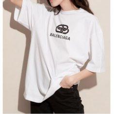 完売人気【バレンシアガコピー BALENCIAGA】2019新作限定☆ New BB Mode オーバーサイズTシャツ☆