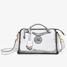 Fendi Medium By The Way Boston Bag In Iconic Calfskin White